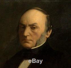 2642 grande huile sur toile portrait de casimir pinel medecin alieniste 19eme