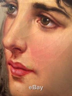 ANGLADA PINTO Luis (1873-1946) Orientaliste Portrait de Jeune Femme Huile signée