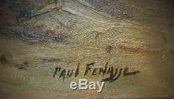 AUTHENTIQUE et SUBLIME huile de Paul FENASSE, oued en Algérie. Noiré Louche Lino