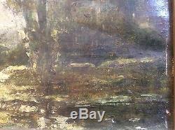 A. H. Fonville XIXème Lyon Ain 2 Paysages Huile Dlg Ecole Barbizon