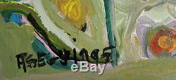 Adrien Seguin Personnage Huile sur toile date 1995. V852
