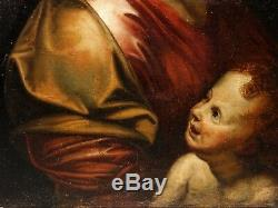 After Raphael Sanzio La Perla Vierge à l'Enfant Superbe Peinture XVIIIe