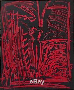 Aki Kuroda huile sur toile signée art abstrait abstraction Paris Japon