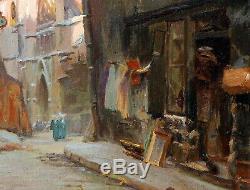 Albert PIERSON, rue Prêtres Saint Séverin, vieux Paris, brocanteur église, Atget