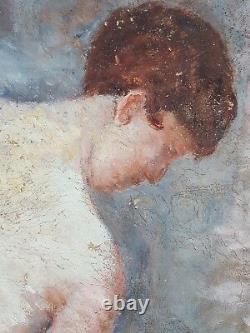 Ancien Tableau Auguste Panon (XIXe-XXe) Peinture Huile Oil Painting Ölgemälde