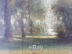 Ancien Tableau Braque Français Peinture Huile Antique Oil Painting
