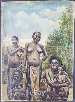 Ancien Tableau Emile Verkouille (1864-1927) Peinture Huile Antique Oil Painting