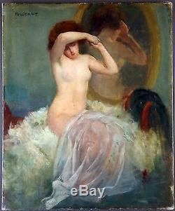 Ancien Tableau Emmanuel Fougerat (1869-1958) Peinture Huile Antique Oil Painting