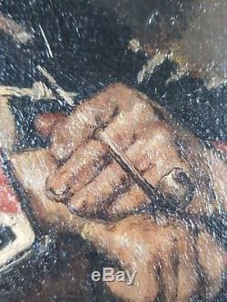Ancien Tableau Henri Jacquier (1878-1921) Peinture Huile Antique Oil Painting