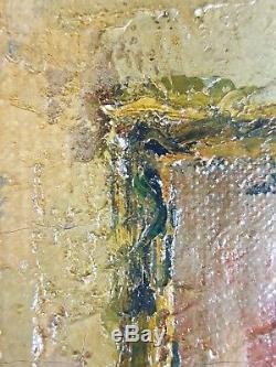 Ancien Tableau Intérieur de Maison Peinture Huile Antique Oil Painting
