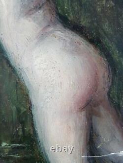 Ancien Tableau Jules-Armand Hanriot (1853-1877) Peinture Huile Painting Dipinto