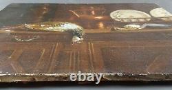 Ancien Tableau Nature Morte Peinture Huile Antique Oil Painting Old Ölgemälde