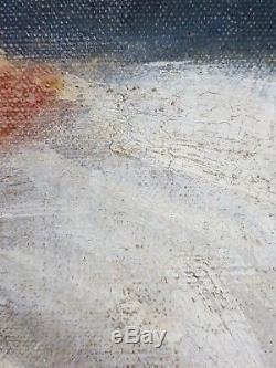 Ancien Tableau Reinhold Bressler (1868-1945) Peinture Huile Antique Oil Painting