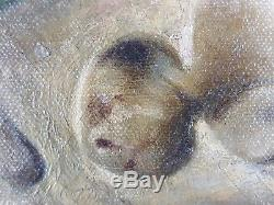 Ancien Tableau Vanité Peinture Huile Antique Oil Painting
