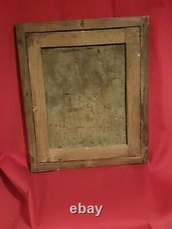 Ancien portrait de femme, huile sur toile, fin XVIII ème s, cadre doré