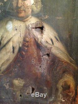 Ancienne huile/toile XVIIIèmeS Portrait du Doge Paolo Renier BERNADINO CASTELLI
