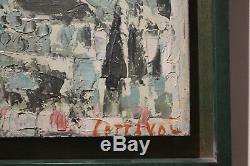André Cottavoz huile sur carton paysage de toscane