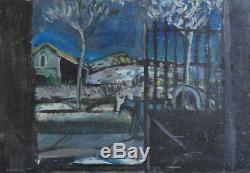 Auguste CHABAUD. Le portail. Huile sur toile v704