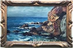 Auguste ROURE (1878-1936)-Marine-Avignon-Provence-Marseille-Bandol-Seyssaud-1920