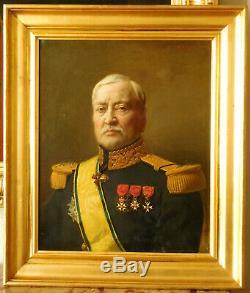 Augustin Feyen-Perrin portrait d'un Général de Brigade huile sur toile 1880