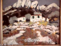 BABOULENE Eugène Toulon Huile sur Toile Les alpilles