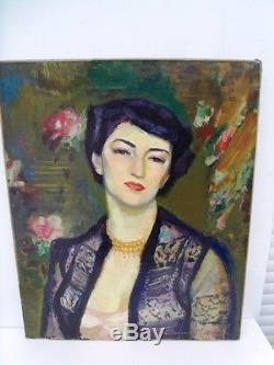 BERTHOMME SAINT-ANDRE (1905-1977) Portrait de Jacquote Huile sur toile de 1969