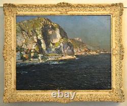 BONAMICI Louis (1878-1966) Baie du Garavan à Menton et l'Italie Provence Nice