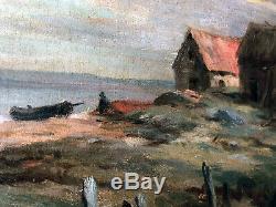 Barque à Equihen Jean Charles Cazin, 1900 Etaples Tattegrain Maroniez Chigot