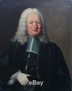 Baziray Portrait de magistrat Epoque Louis XV Huile sur Toile du XVIIIème siècle