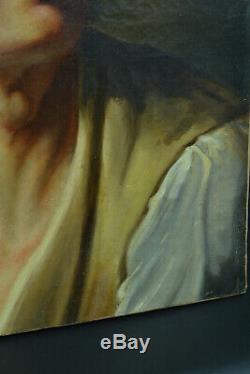 Beau TABLEAU ANCIEN Portrait Jeune homme Néo Classique Empire Girodet David HST