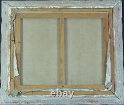 Beau Tableau Ancien Portrait Le peintre et son modèle Nu Atelier VAGH WEINMANN