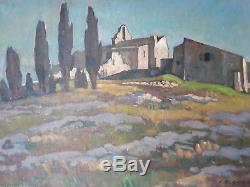 Beau paysage de Provence, huile sur toile de Jean Frédéric Canepa