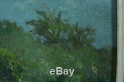 Beau tableau ancien Paysage Jardin Orientaliste John Gleich sv A. Roubtzoff 1930