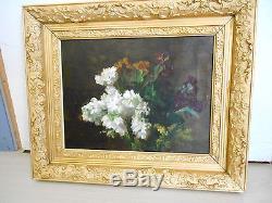 Benner Jean bouquet de fleur huile sur toile
