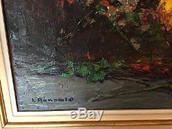 Bouquet de fleur huile sur toile de Louis BONAMICI 1878-1966