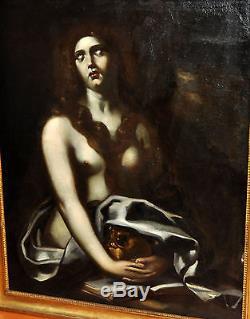 Cercle De Cuido Cagnacci (1601-1681) Huile Sur Toile. Marie-madeleine