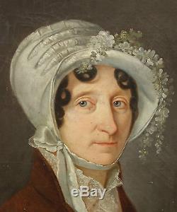 COLIN Portrait de Madame Maillefaud Ecole française 1812 Huile sur toile Empire