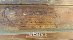Charles QUINET Tableau HUILE sur Toile XIXe 19e Signe PRINTEMPS a PERNAY Oil Art