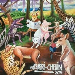 Chéri CHÉRIN Peinture originale signée tableau Afrique art africain samba
