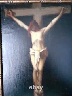 Christ En Croix Huile Jean Jacques Henner