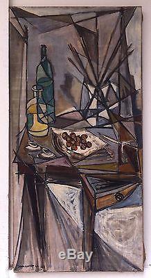 Cortot Jean Huile sur toile signée 1946 art abstrait abstraction cubisme