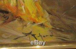 DURANDO TOGO RICHARD tableau huile sur toile tzigane gypsy bohemienne fete