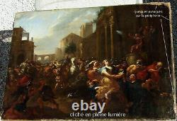 Dandini Pietro 1646-1712. Grande & Magnifique Peinture. Lenlèvement Des Sabines