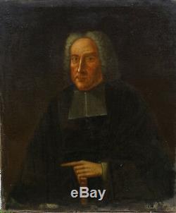 De Belville Portrait de Curé Epoque Louis XIV Huile sur toile XVIIIème siècle