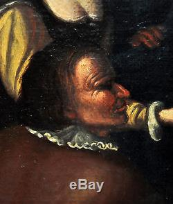 ECOLE HOLLANDAISE DU SCIECLE XVIII. HUILE SUR TOILE. LE VISIONNAIRE