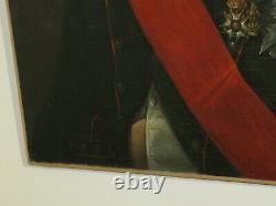 Ecole FRANCAISE XIX RARE TABLEAU HUILE PORTRAIT NAPOLEON BONAPARTE EMPIRE 1830