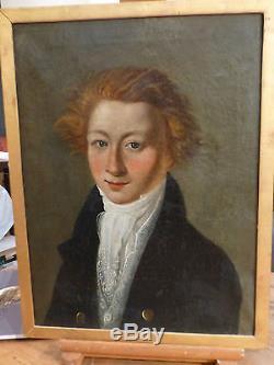 Ecole Française XVIII°, Portrait de Jeune Homme, huile sur toile