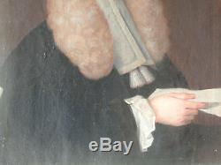 Ecole Française XVIIIème Huile sur toile Portrait d'un Homme de Loi vers 1730/50