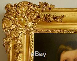 Ecole Française du XIXe siècle portrait d'enfant époque Napoléon III, HST