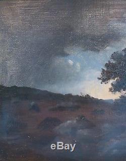 Ecole de BARBIZON. Huile sur toile du XIXè. Théodore ROUSSEAU. Cadre ancien